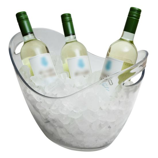 Beaumont 8 Litre Plastic Wine/Champagne Cooler – Clear BEA 3494