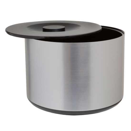 Beaumont Plastic Ice Bucket Brushed – Aluminium Effect BEA 3495