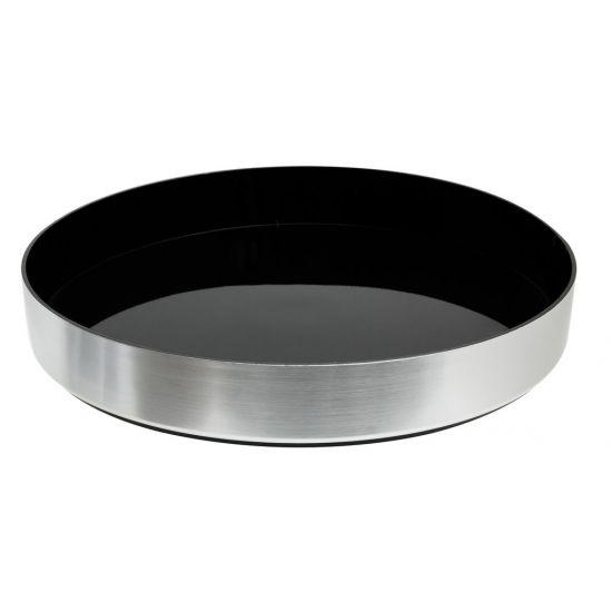 Beaumont Non-Slip Black Tray Brushed Aluminium Effect BEA 3517