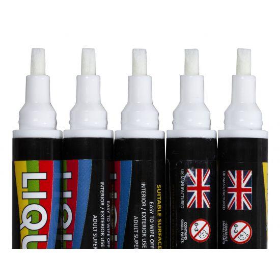 Beaumont Liquid Chalk – 6mm Chisel Tip White – Case QTY 5 BEA 3564