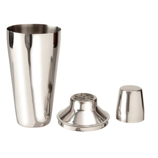 Beaumont Regular 3 Piece Cocktail Shaker Stainless Steel BEA 3582
