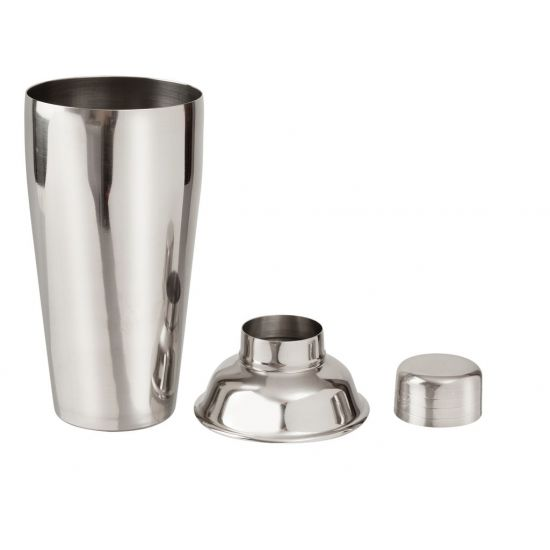 Beaumont Deluxe 3 Piece Cocktail Shaker Stainless Steel BEA 3583