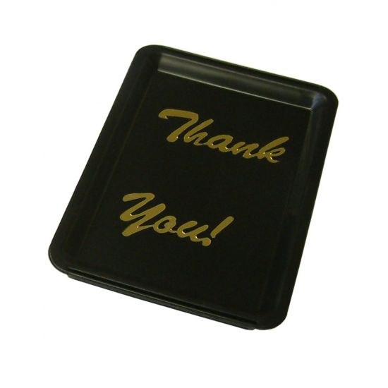 Beaumont Black Plastic Tip Tray – Thank You BEA 3590
