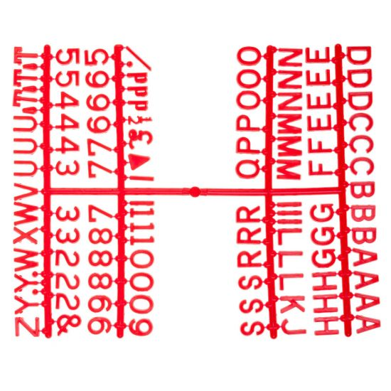 Beaumont 1/2 Inch Letter Set (660 Characters) Red BEA 3861R