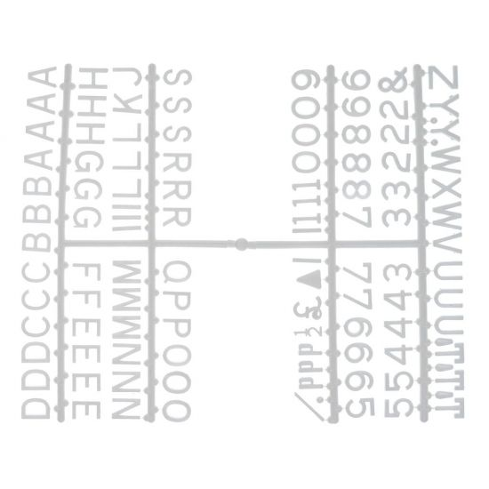 Beaumont 1/2 Inch Letter Set (660 Characters) White BEA 3861W