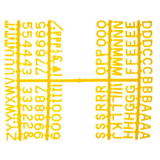 Beaumont 1/2 Inch Letter Set (660 Characters) Yellow BEA 3861Y