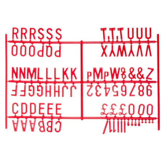 Beaumont 3/4 Inch Letter Set (540 Characters) Red BEA 3862R