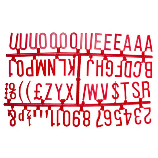 Beaumont 1 1/4 Inch Letter Set (390 Characters) Red BEA 3863R