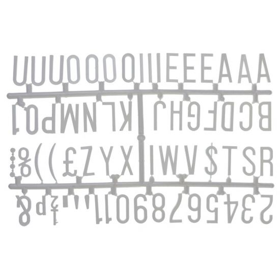 Beaumont 1 1/4 Inch Letter Set (390 Characters) Red BEA 3863W