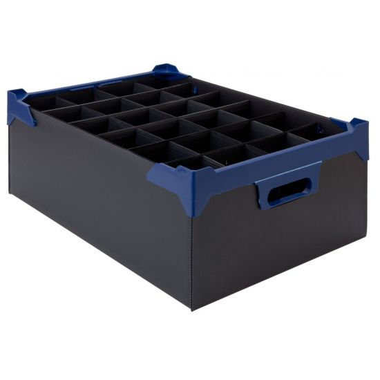 Beaumont Glass Carry Case 24 Glasses 165mm – Case QTY 5 BEA 3900