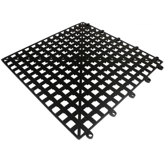 Beaumont Interlocking Bar Shelf Tile – Black 13 x 13 Inch BEA 3915B