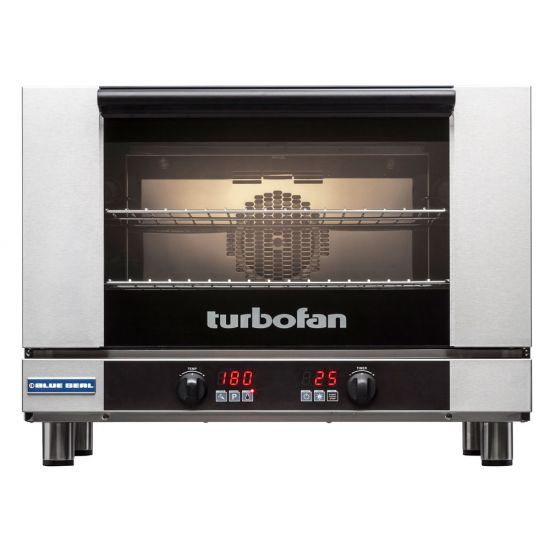 Turbofan Electric Counter-Top Convection Oven With 2 Wire Shelves BLS E27D2