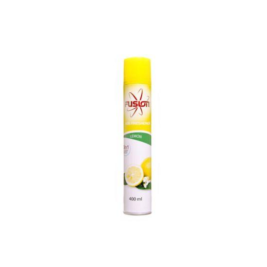 Fusion 400ml Lemon Scented Aerosol Air Freshener - Pack Of 12 AC1022