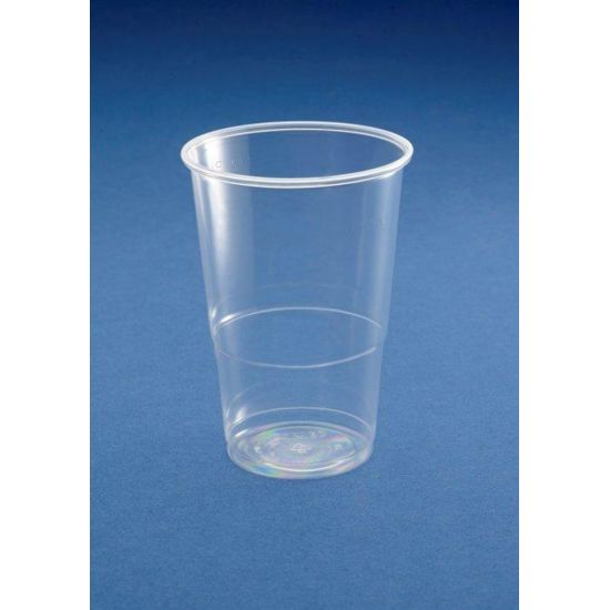 Disposable Half Pint To Line Plastic Glasses Ce Marked - Pack Of 50 BP1012