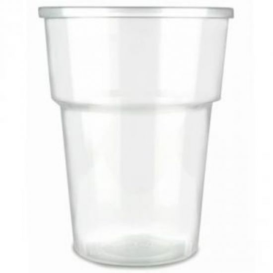 Disposable Half Pint To Brim Plastic Glasses Ce Marked - Pack Of 50 BP1013