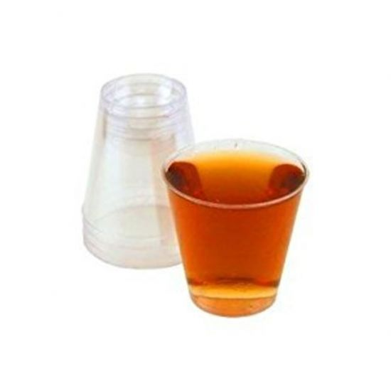 Disposable Lined 20ml Shot Glasses Clear - Pack Of 100 BP1023