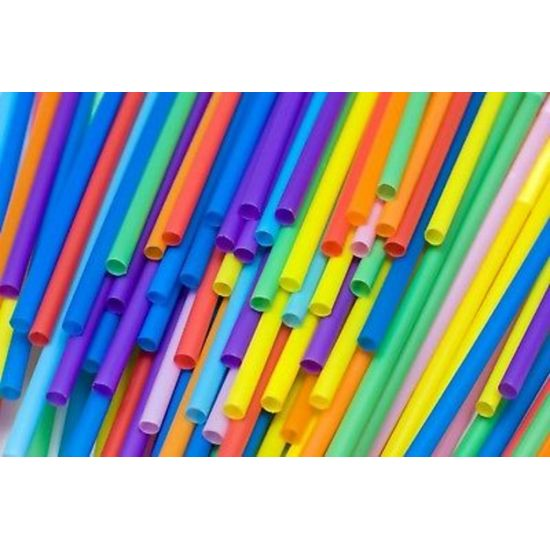 Multi Coloured Plastic Flexi Straws 10.5 Inch - Pack Of 250 BP3015