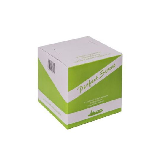Biodegradable 5.5 Inch Black Bendy Straw 6mm Bore - Box Of 250 BP3042