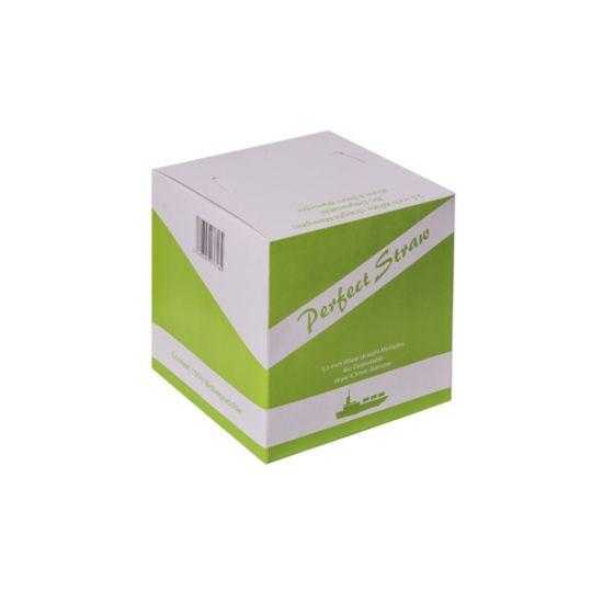 Biodegradable 5.5 Inch White Straight Straw 4.3mm Bore - Box Of 1000 BP3045