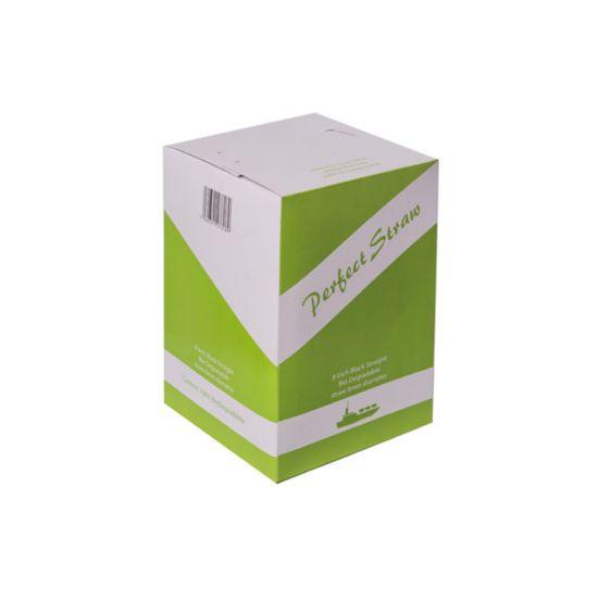 Biodegradable 8 Inch Black Jumbo Straw 6mm - Box Of 500 BP3050