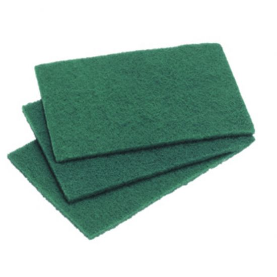 Large Green Flat Scourers - Pack Of 10 CAT3002