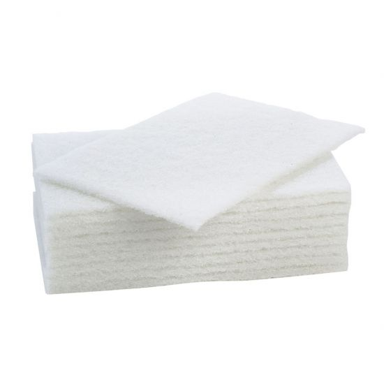 Large White Non-Scratch Scourers - Pack Of 10 CAT3003