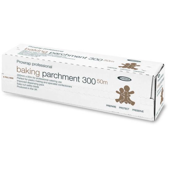 Prowrap Professional Baking Parchment Paper 30cm X 50m In Cutter Box CAT4055