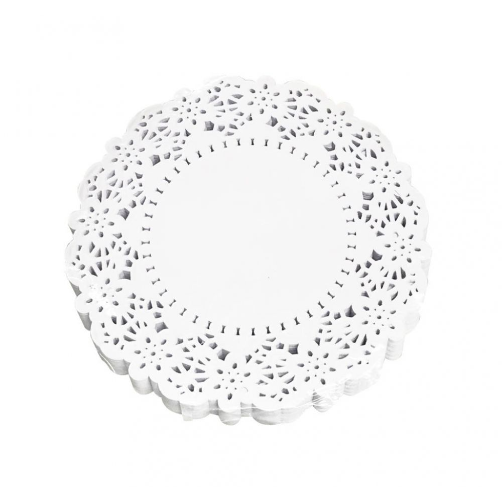 White 7.5 Inch Paper Doilies Pack of 250