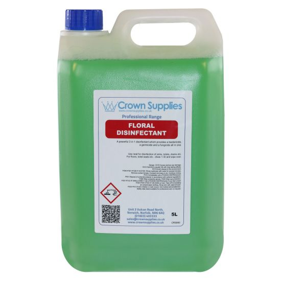 Professional Range Floral Disinfectant 5L Pack of 1 Dilute To 1:30 CL6004