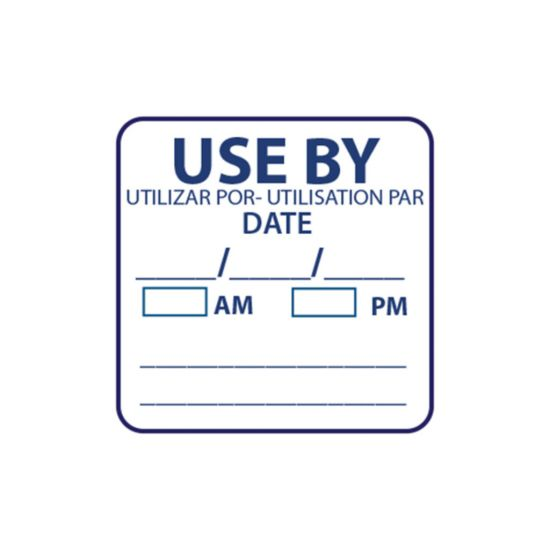 Use By 25 X 25mm Square Removable Food Label - Roll Of 1000 FL1011