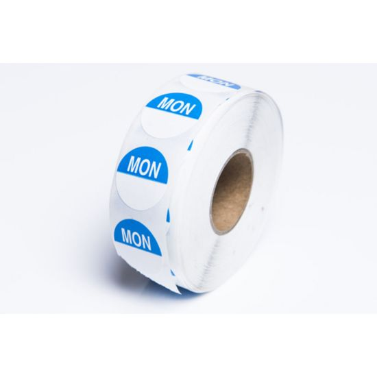Monday 19mm Round Day Dot Label - Roll Of 1000 FL1020