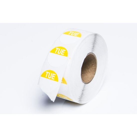 Tuesday 19mm Round Day Dot Label - Roll Of 1000 FL1021