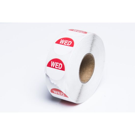 Wednesday 19mm Round Day Dot Label - Roll Of 1000 FL1022