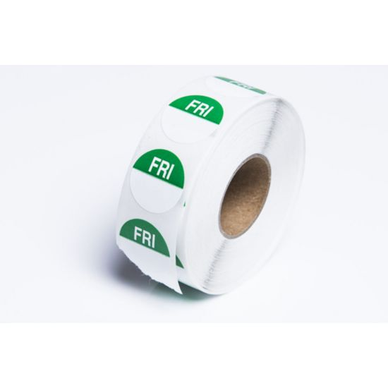 Friday 19mm Round Day Dot Label - Roll Of 1000 FL1024