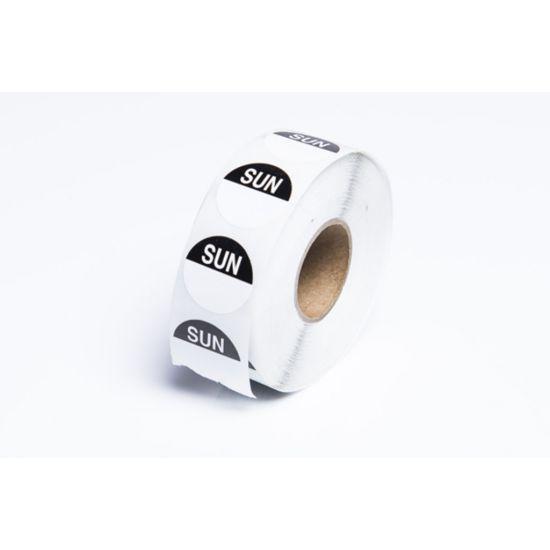 Sunday 19mm Round Day Dot Label - Roll Of 1000 FL1026