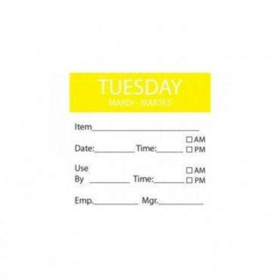 Tuesday Removable Day Of The Week Label 50 X 50mm - Roll Of 500 FL1031