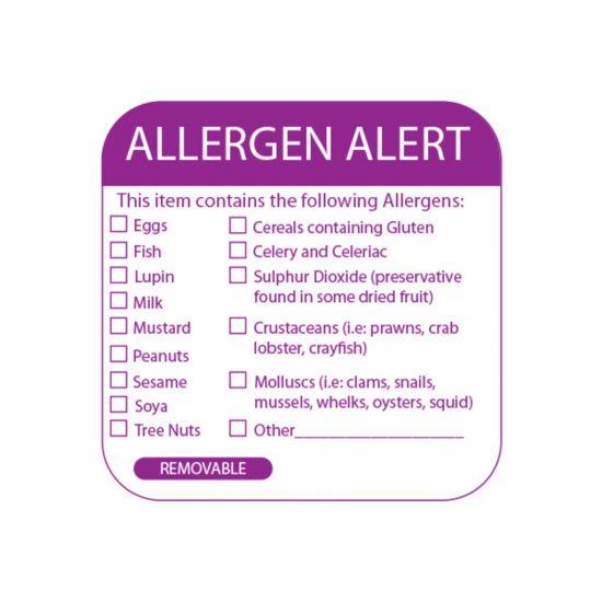 Allergen Safety Food Labels 50 X 50mm - Roll Of 500 FL1051