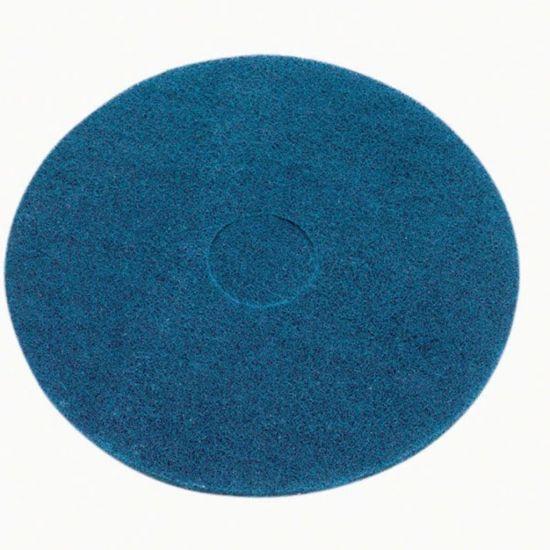15 Inch Floor Maintenance Blue Wet Scrub / Heavy Duty Pad FLO3002
