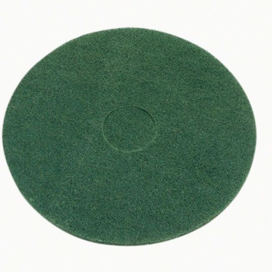 15 Inch Floor Maintenance Green Light Stripping Pad FLO3004