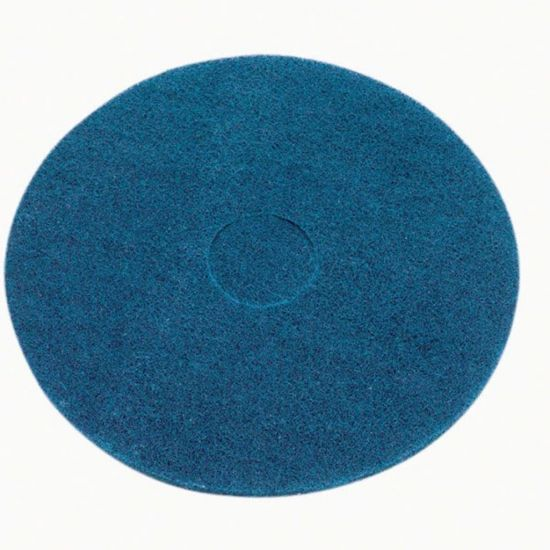 17 Inch Floor Maintenance Blue Wet Scrub / Heavy Duty Pad FLO3014