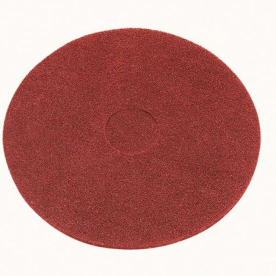 17 Inch Floor Maintenance Red Light Clean / Buffing Pad FLO3015