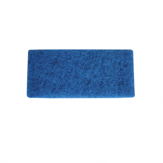 Blue Medium Heavy Duty Floor Scouring Pad - 25.4 X 11.5cm FLO3029