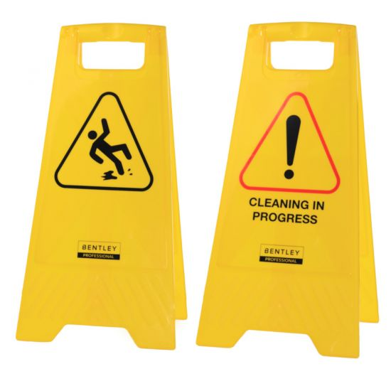 Professional A-Frame Dual Message Wet Floor / Cleaning In Progress Sign FLO5012