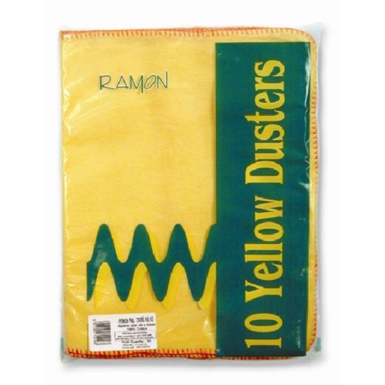 Professional Yellow Dusters - Pack Of 10 GW1014