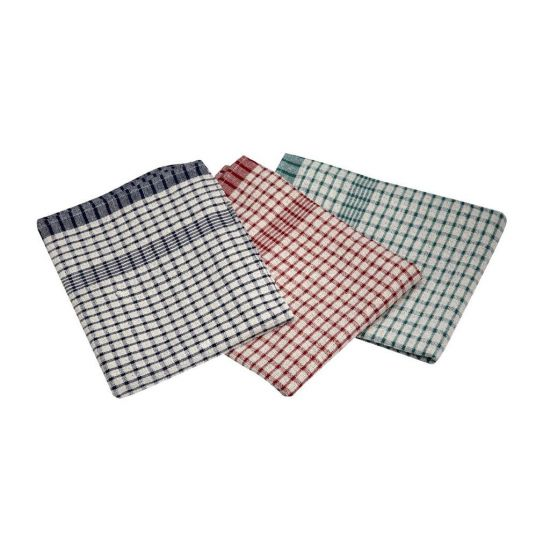 Professional Rice Weave Tea Towels - Pack Of 10, Assorted Colours GW2002