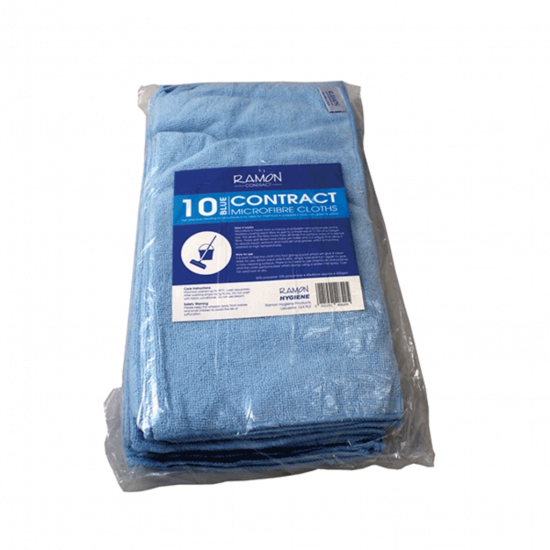 Contract Blue Microfibre General Purpose Cloth - Pack Of 10 GW4010