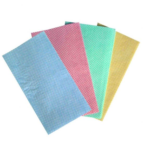 Blue All Purpose  J Style  Non-Woven Lightweight Cloths - Pack Of 50 GW5001