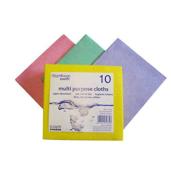 Blue Swift Multi Purpose Cloths - Pack Of 10 GW5006