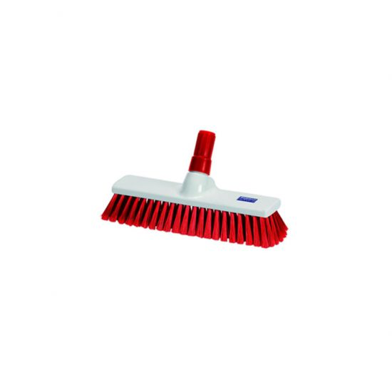 Red 30cm Medium Bristle Brush / Broom Head Heavy Duty JE1016