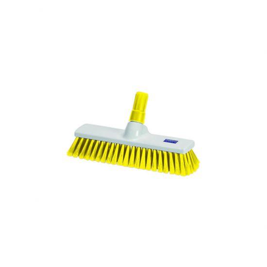 Yellow 30cm Medium Bristle Brush / Broom Head Heavy Duty JE1017